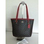 COACH 34603 ZIP TOP TOTE IN SIGNATURE