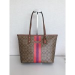 COACH 38405 VARSITY STRIPE CITY ZIP TOTE IN SIGNATURE